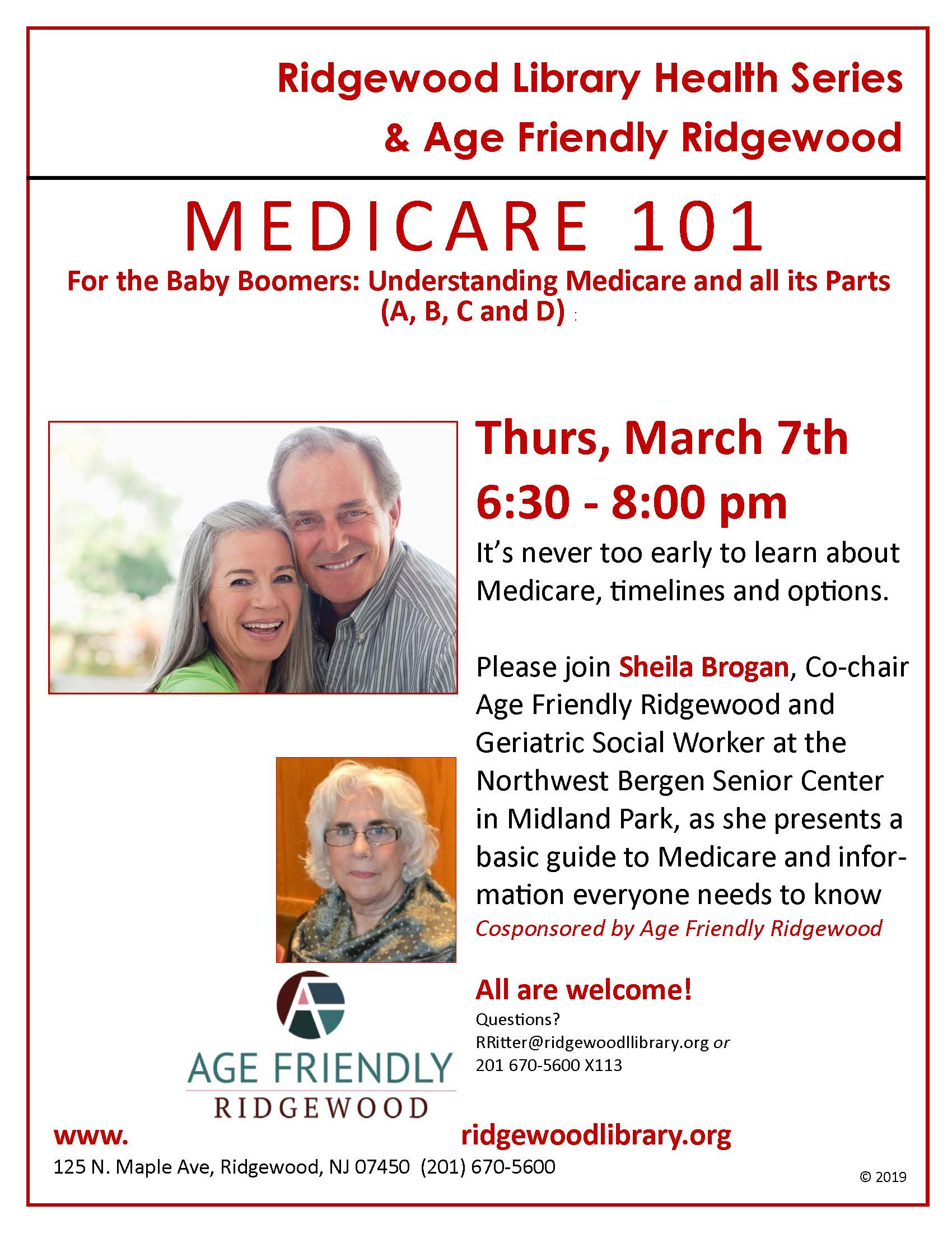 Medicare 101 for the Baby Boomer - Age Friendly Ridgewood