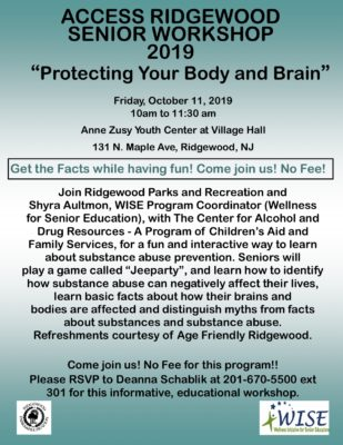 Protecting Your Body and Brain - ACCESS Seniors 2019 Flyer