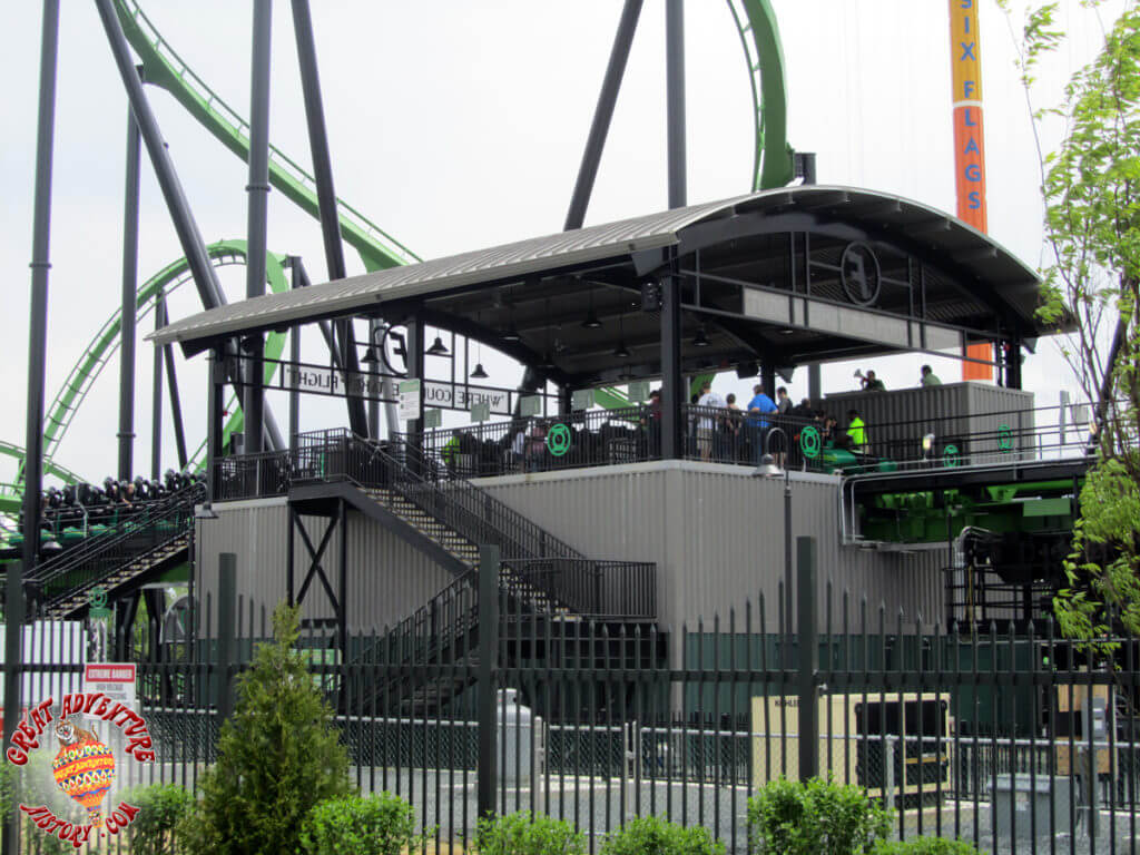 Green Lantern Roller Coster at Six Flags Great Adventure, Jackson, NJ