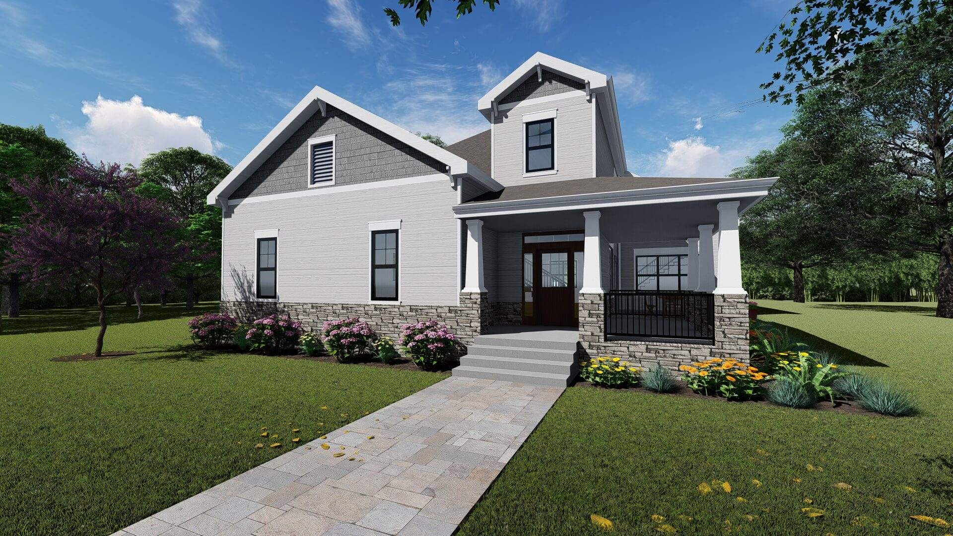 Craftsman Style Ranch with Loft options