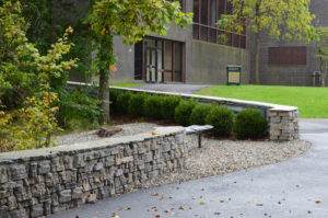 Bench Wall Planting Install at Ramapo College