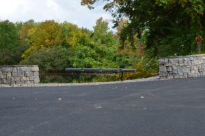 Retaining Wall & Bench Install at Ramapo College