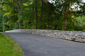 Retaining Wall Install at Ramapo College