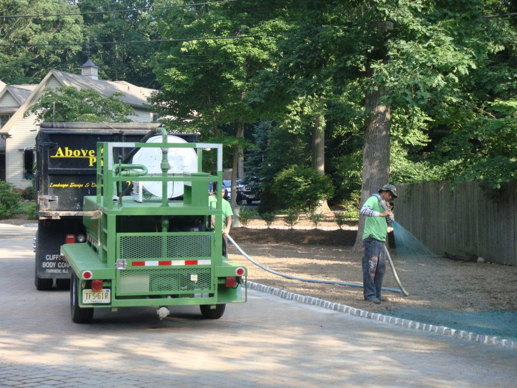 Side Yard HydroSeed Install