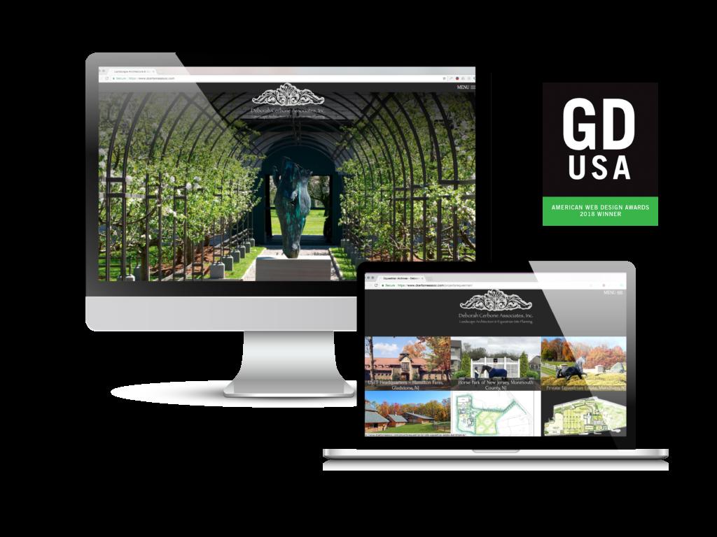 Deborah Cerbone Associates GDUSA 2018 Web Design Award Winner