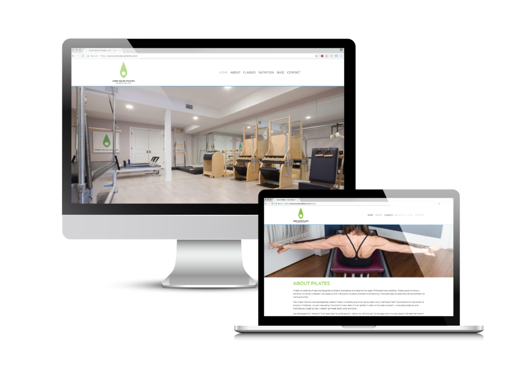 Core Value Pilates Website Design