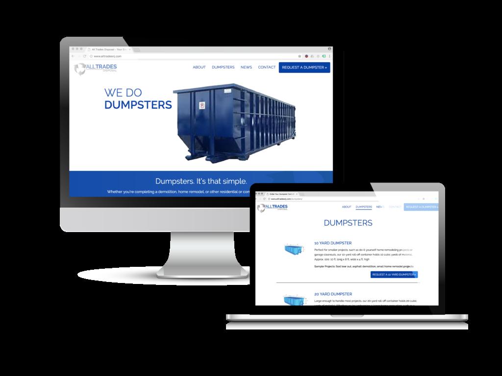 All Trades Disposal Website Design