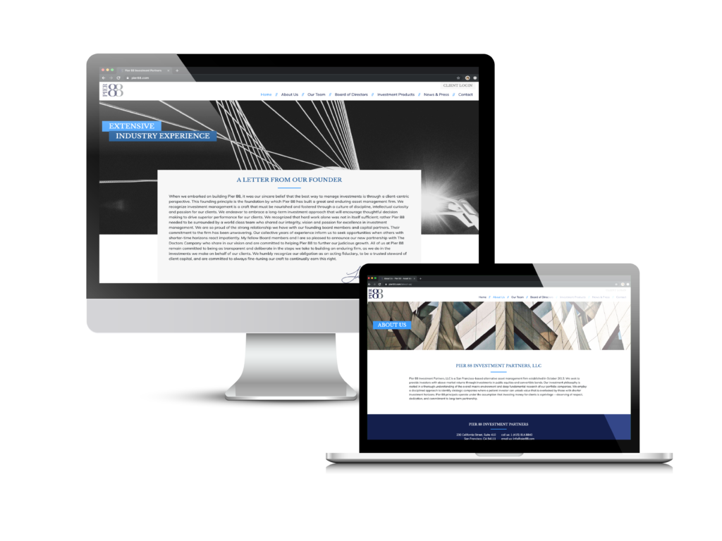 Pier88 Investment Partners Case Study by Creare Web Solutions
