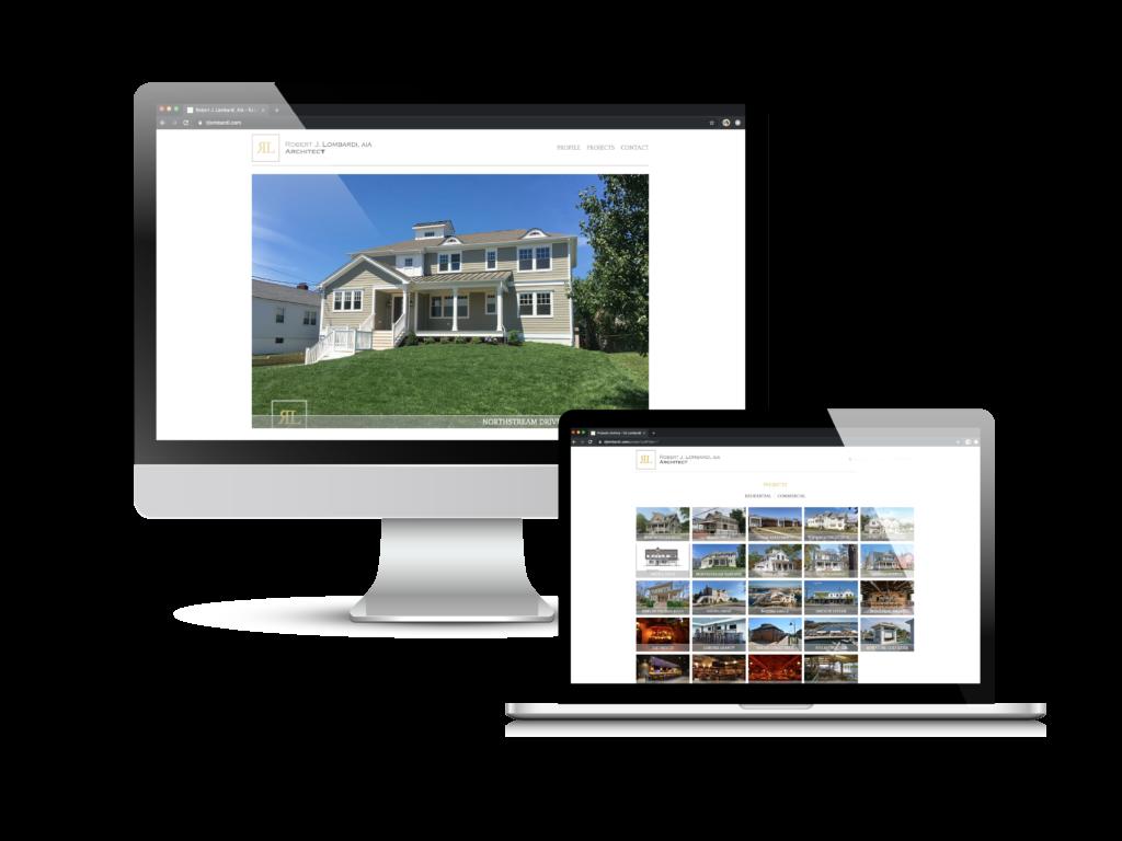 Architecture Website Case Study of Robert Lombardi's custom website