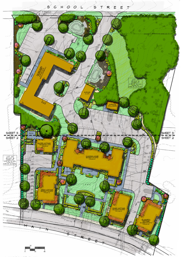 The Cottages at Vernon Manor conceptual plan