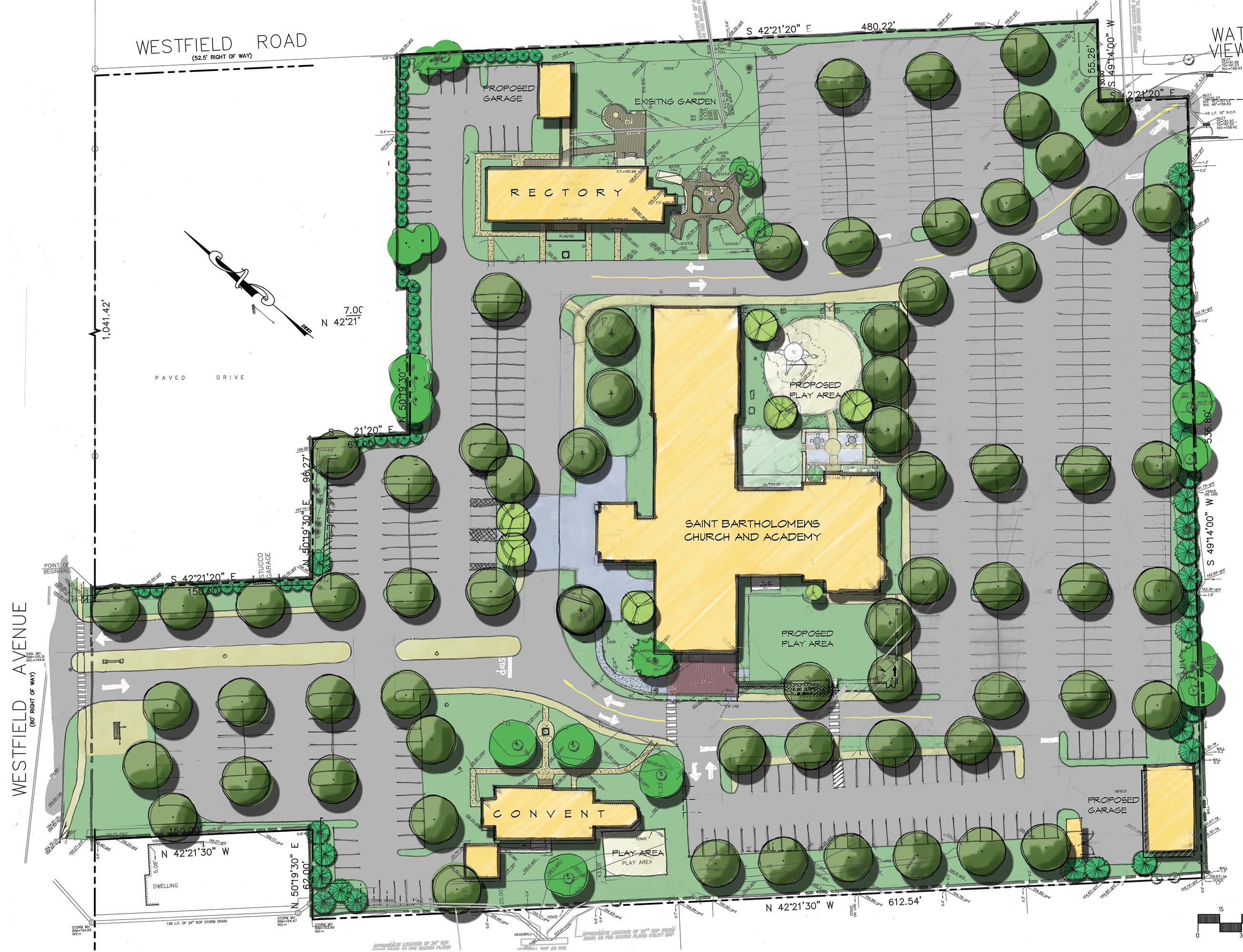 St. Bartholomew the Apostle Parish conceptual site plan
